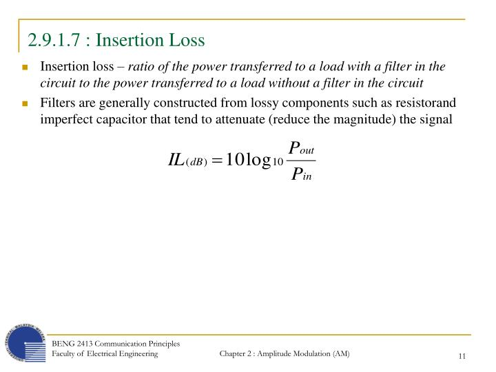 2.9.1.7 : Insertion Loss