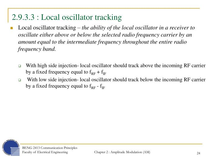 2.9.3.3 : Local oscillator tracking
