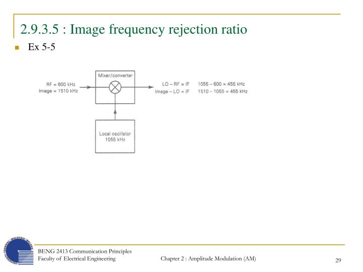 2.9.3.5 : Image frequency rejection ratio