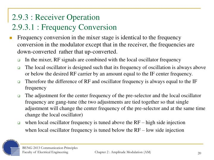 2.9.3 : Receiver Operation