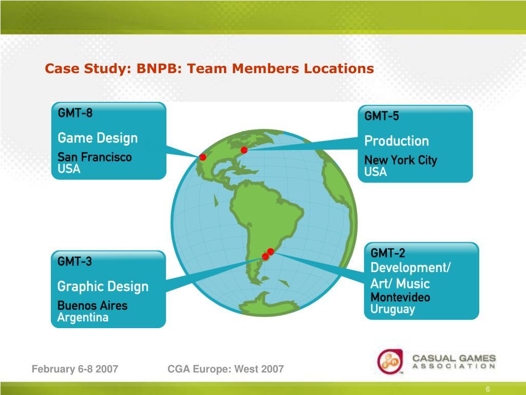 Case Study: BNPB: Team Members Locations