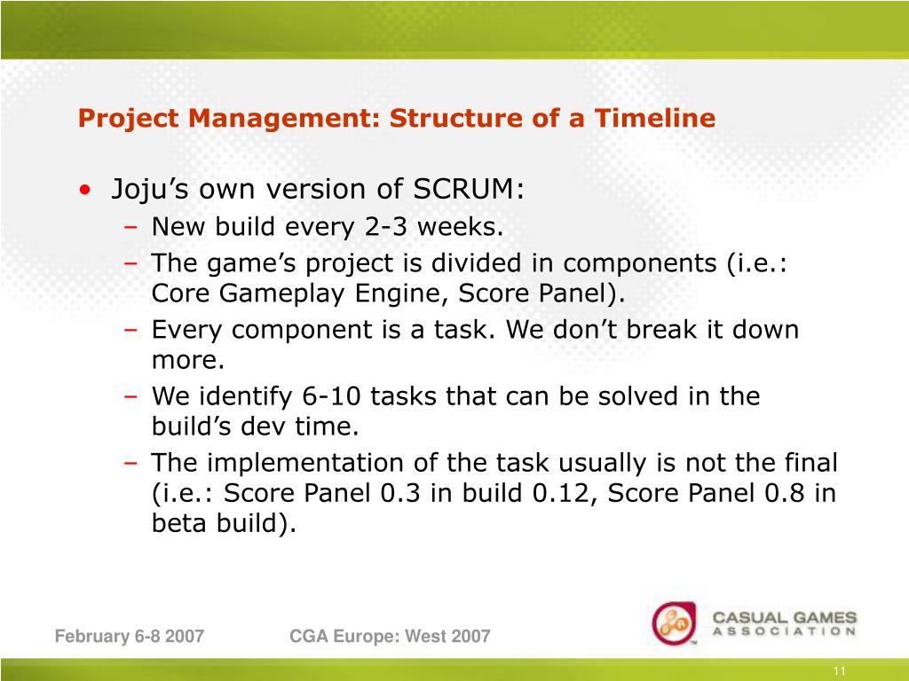 Project Management: Structure of a Timeline