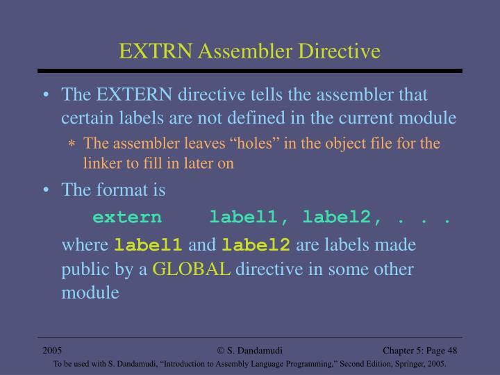 EXTRN Assembler Directive