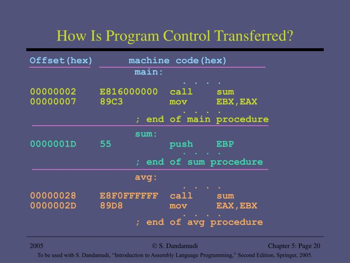 How Is Program Control Transferred?