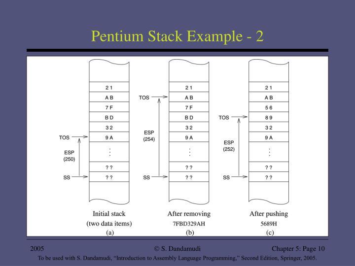 Pentium Stack Example - 2