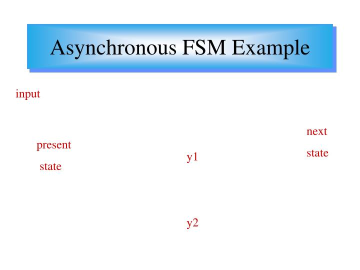 Asynchronous FSM Example