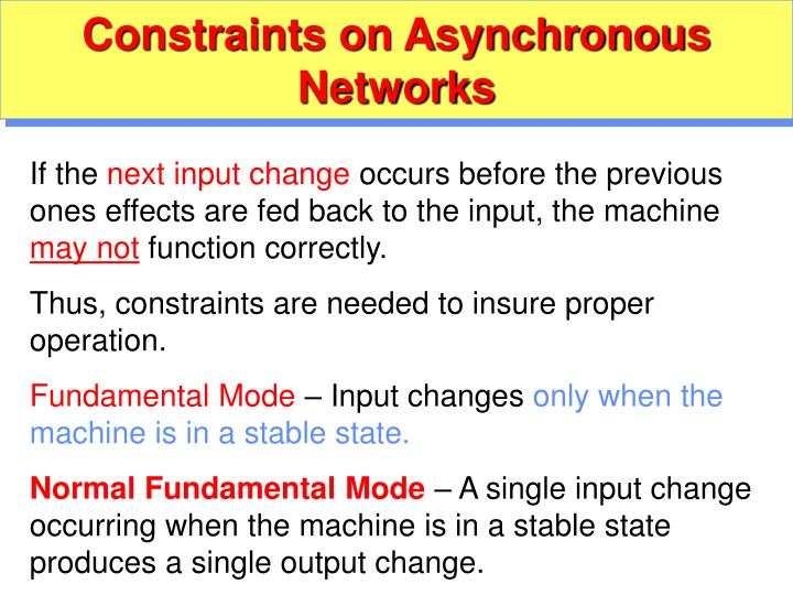 Constraints on Asynchronous Networks