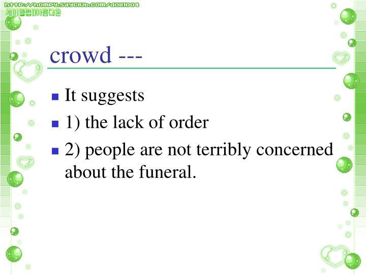 crowd ---