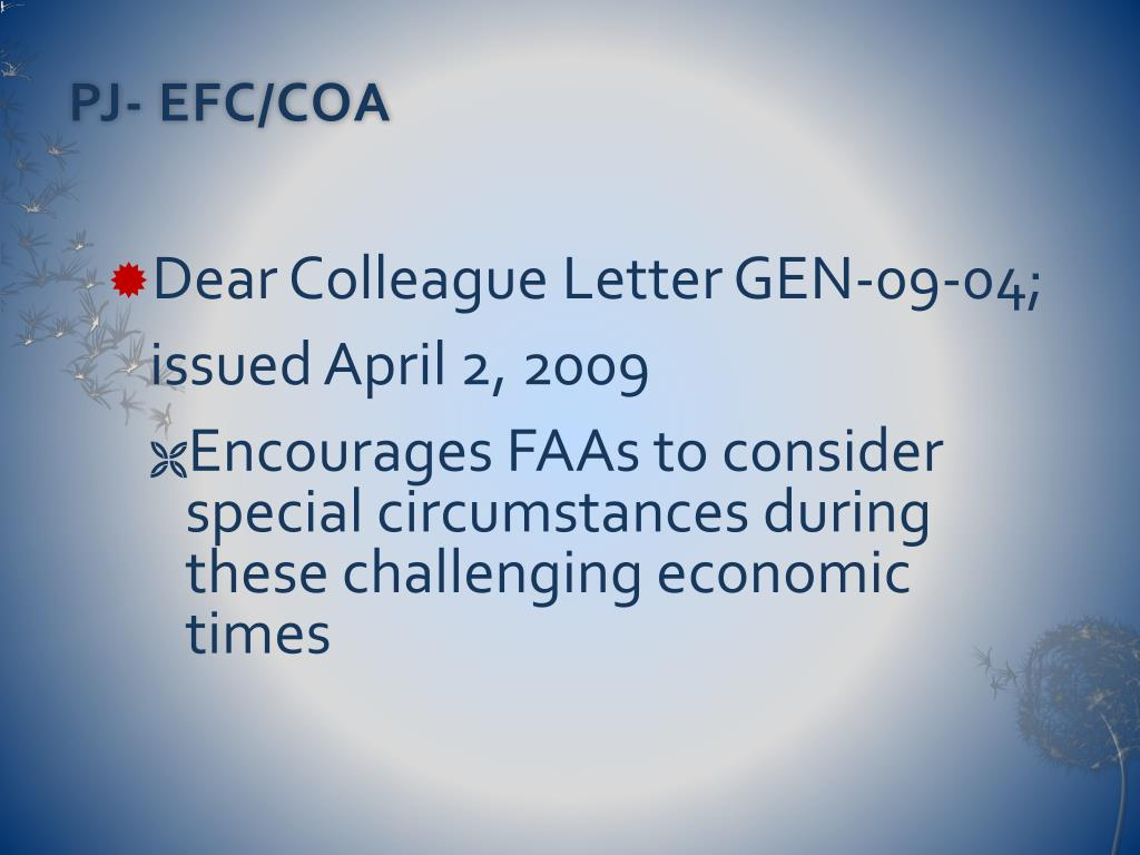 PJ- EFC/COA