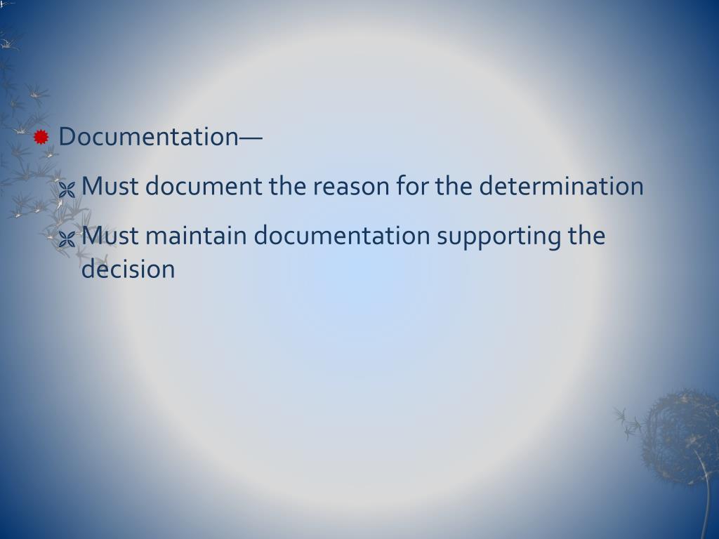 Documentation—