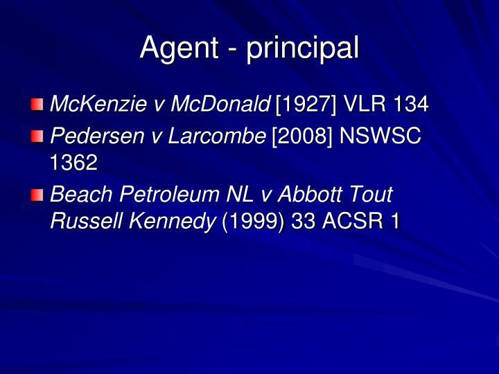 Agent - principal