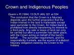 crown and indigenous peoples2