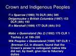 crown and indigenous peoples4
