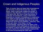 crown and indigenous peoples7