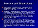 directors and shareholders