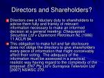 directors and shareholders1