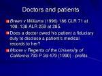 doctors and patients