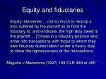 equity and fiduciaries