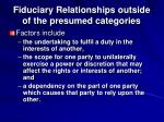 fiduciary relationships outside of the presumed categories