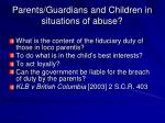 parents guardians and children in situations of abuse1