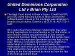 united dominions corporation ltd v brian pty ltd1