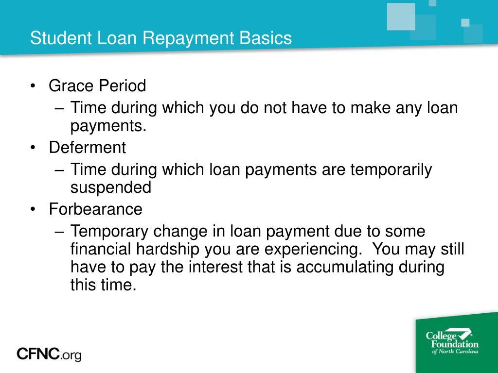 Student Loan Repayment Basics