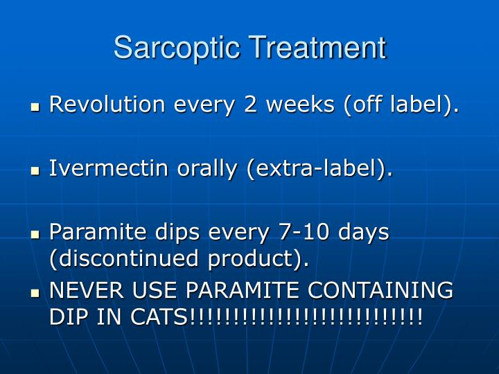 Sarcoptic Treatment