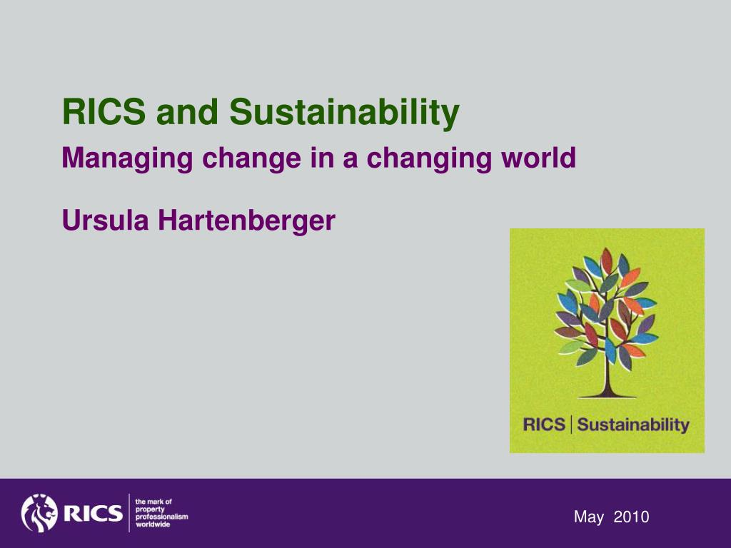 RICS and Sustainability
