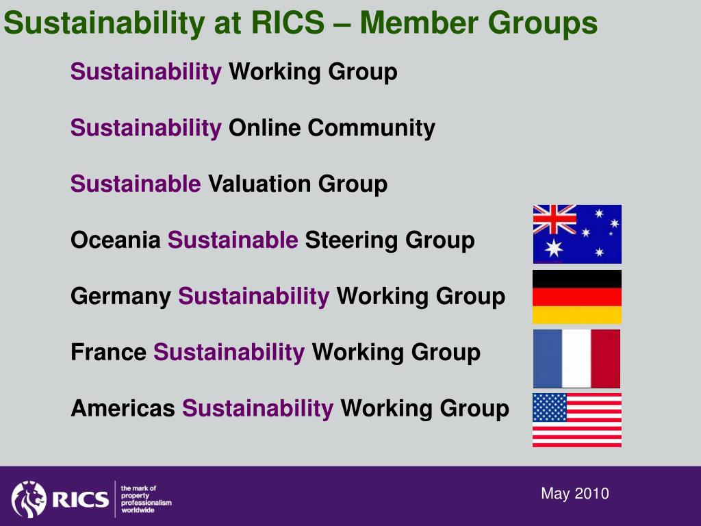 Sustainability at RICS – Member Groups