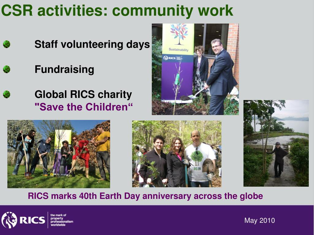 CSR activities: community work