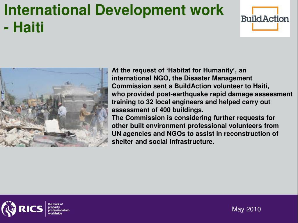 International Development work