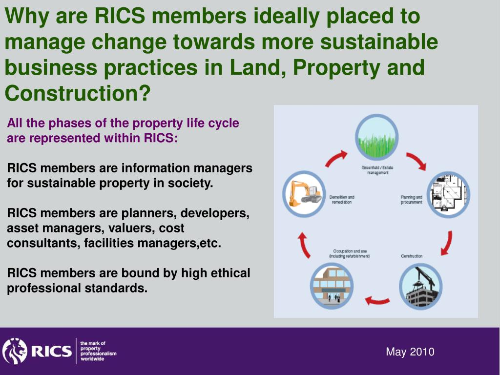 Why are RICS members ideally placed to