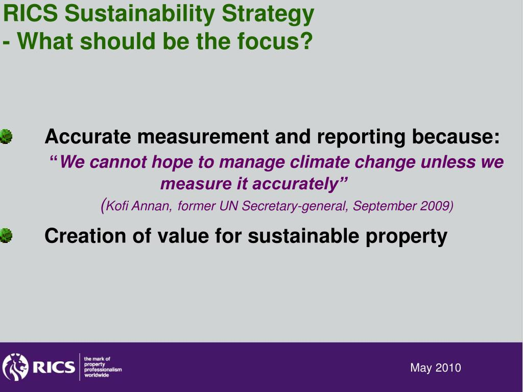 RICS Sustainability Strategy