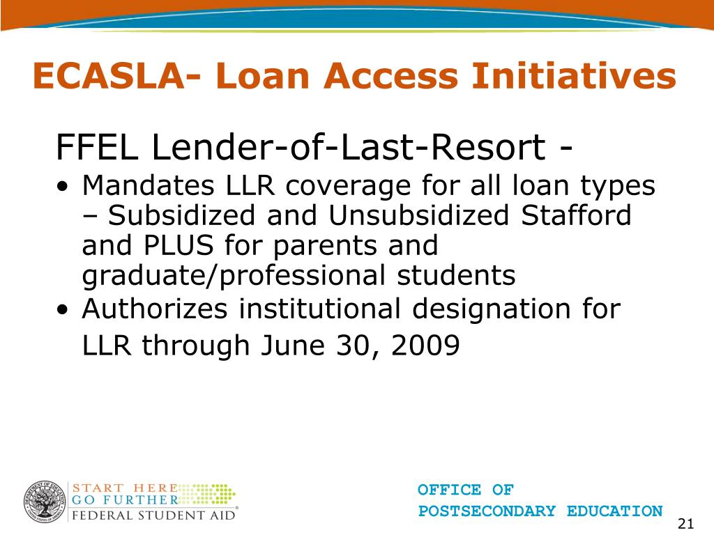 ECASLA- Loan Access Initiatives