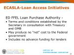 ecasla loan access initiatives22