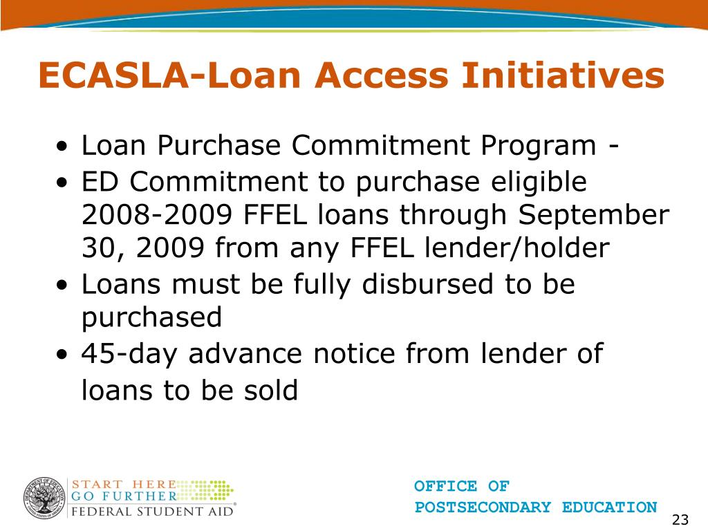 ECASLA-Loan Access Initiatives