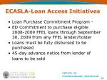 ecasla loan access initiatives23