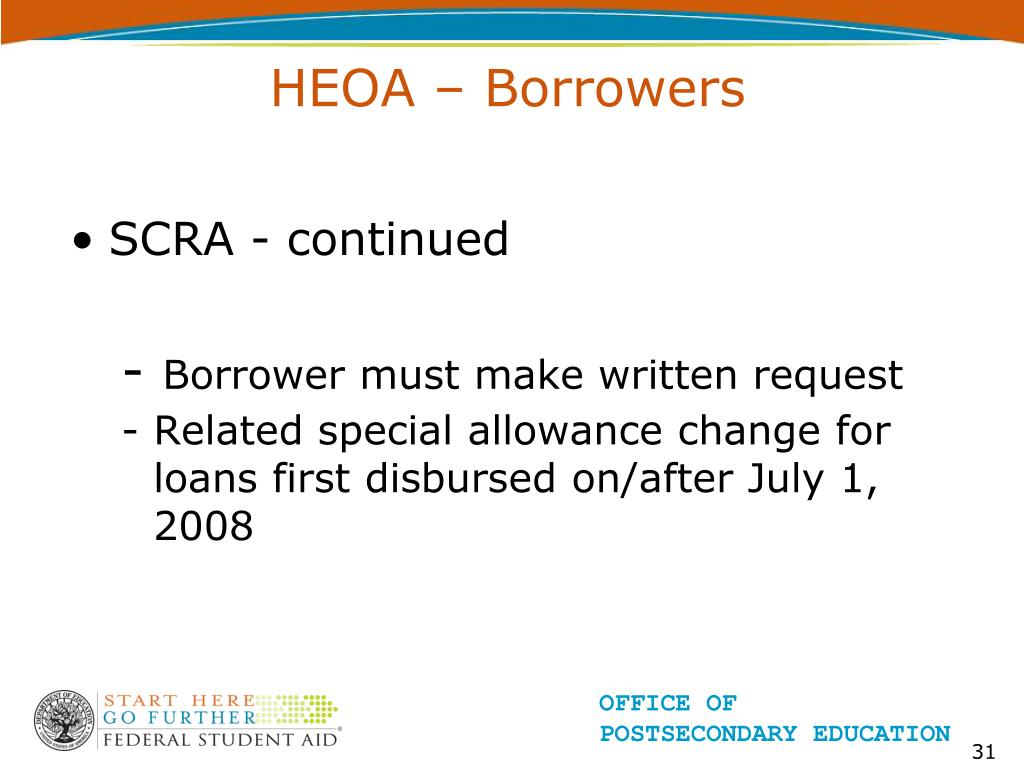 HEOA – Borrowers