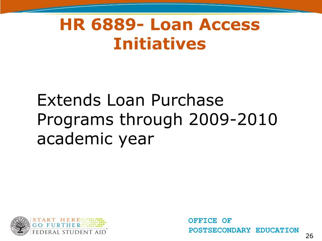 HR 6889- Loan Access Initiatives