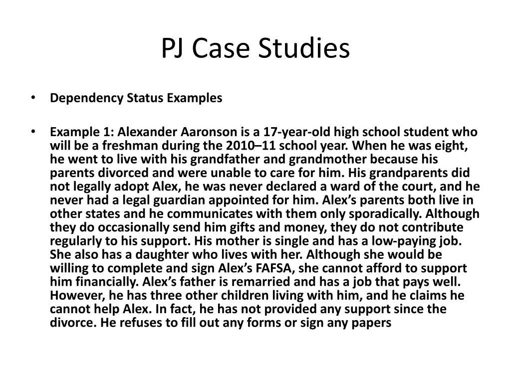 PJ Case Studies