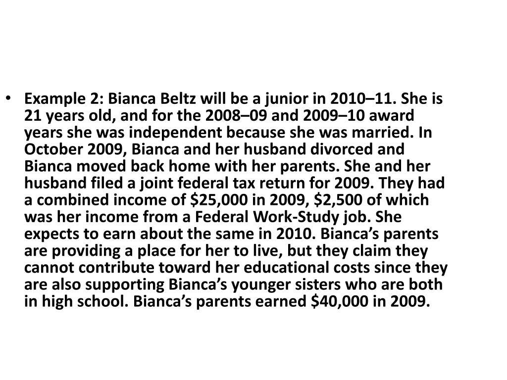 Example 2: Bianca