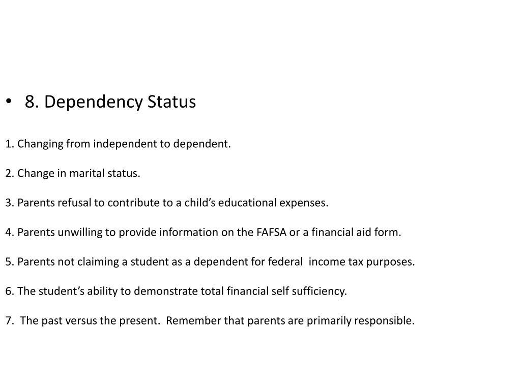 8. Dependency Status