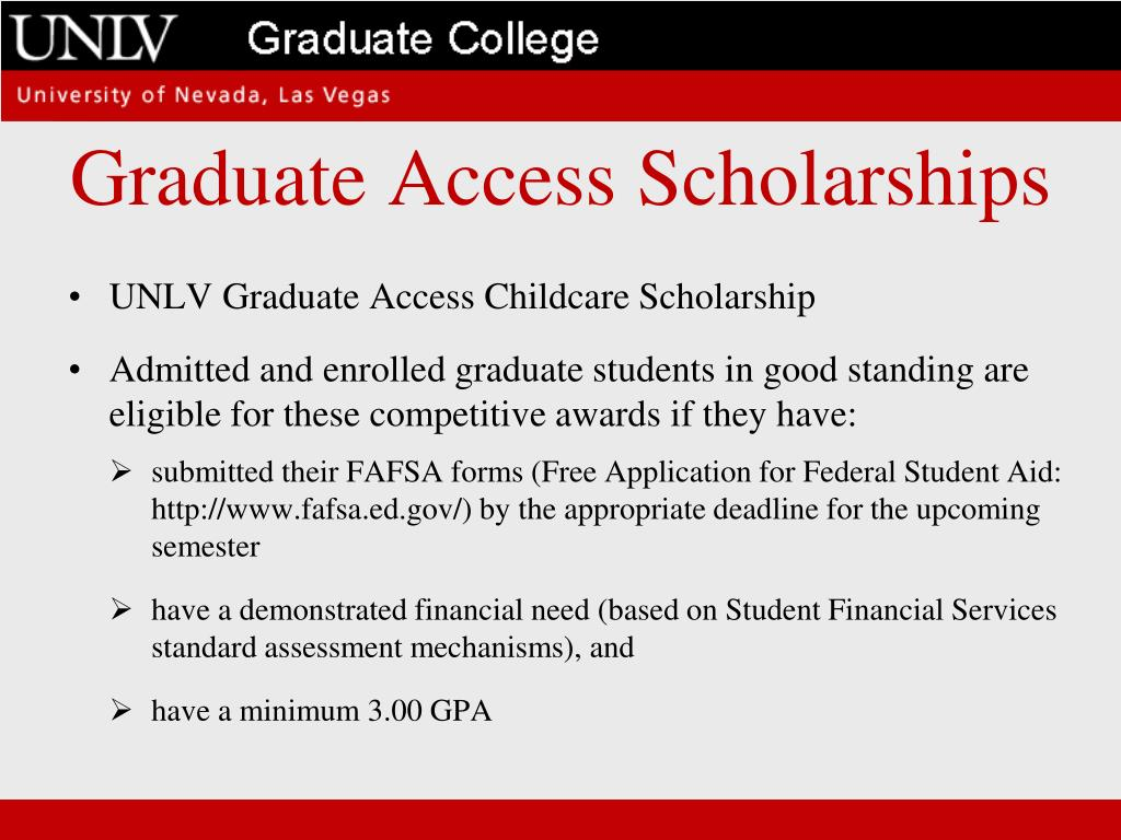 Graduate Access Scholarships