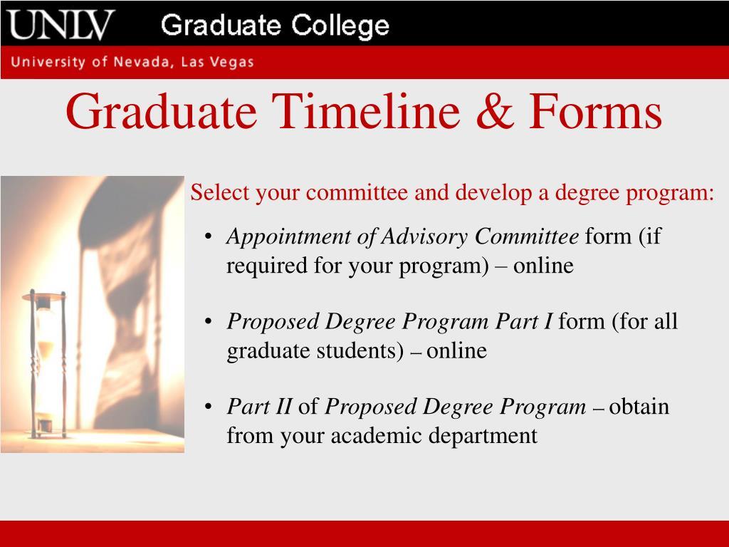 Graduate Timeline & Forms