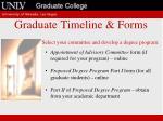 graduate timeline forms