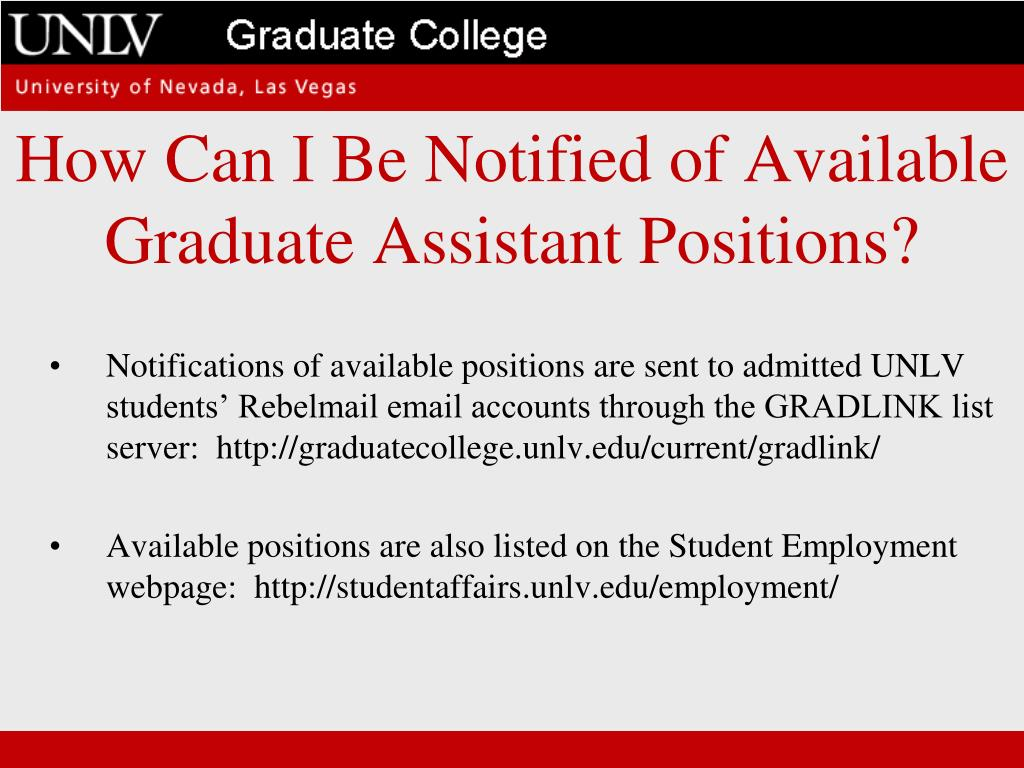 How Can I Be Notified of Available Graduate Assistant Positions?