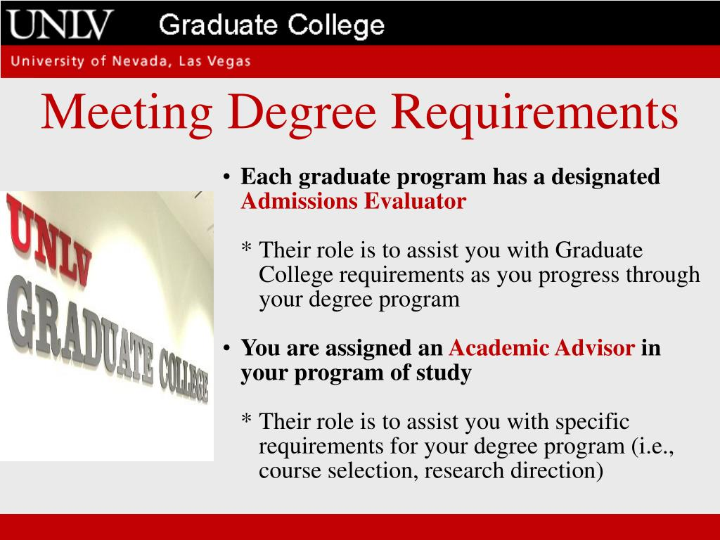 Meeting Degree Requirements