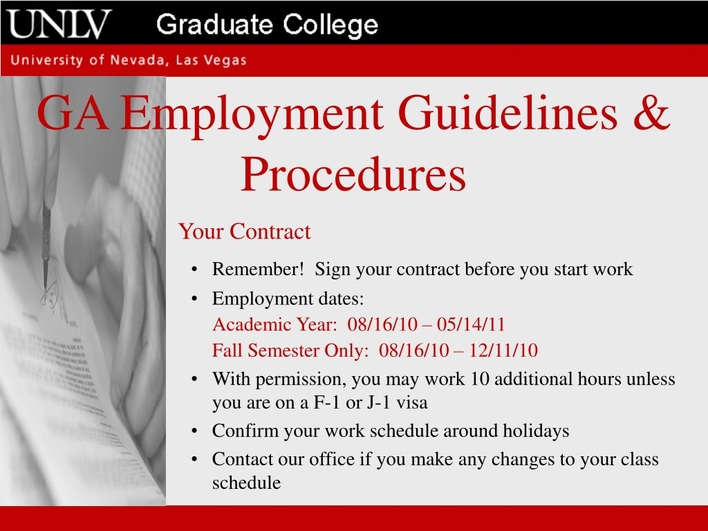 GA Employment Guidelines & Procedures