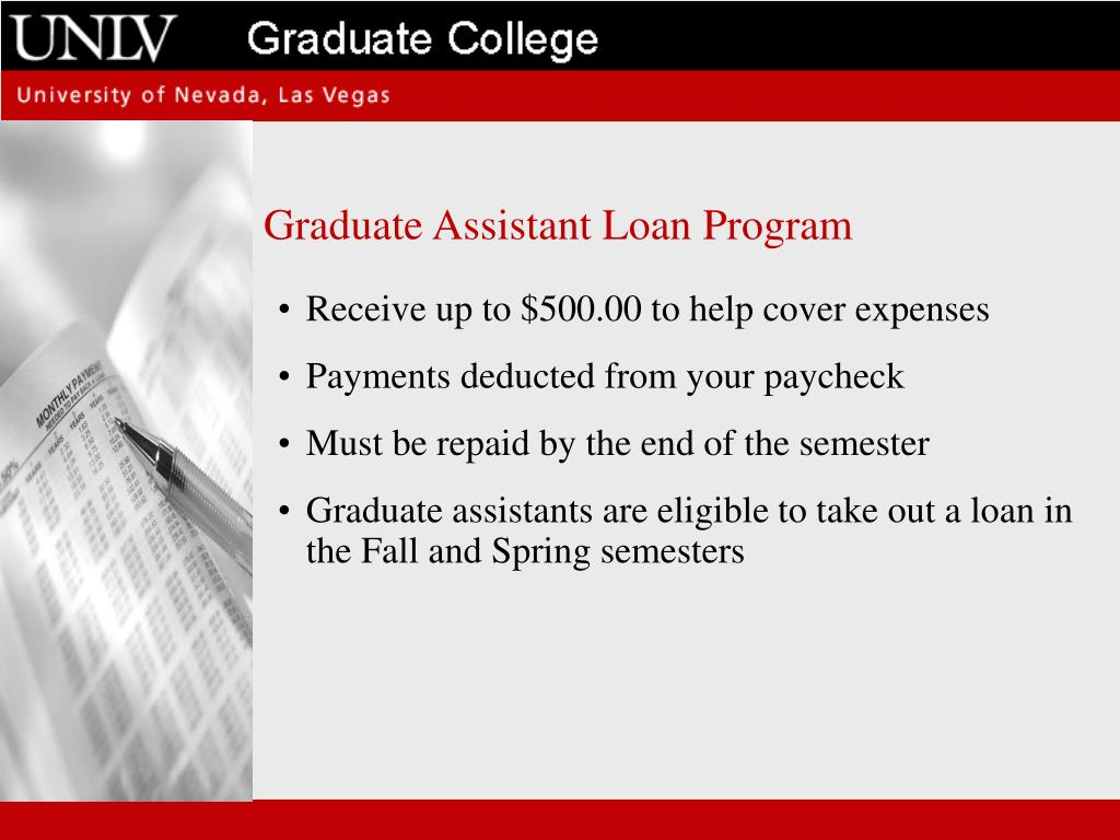 Graduate Assistant Loan Program