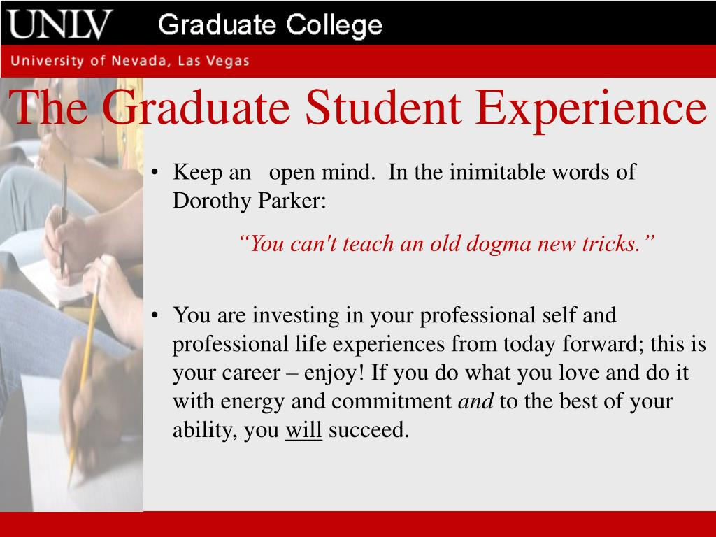 The Graduate Student Experience